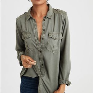 Military Button Down Shirt